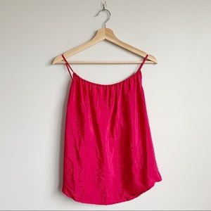 & For All Mankind Pink Tank Top Blouse Satin XS